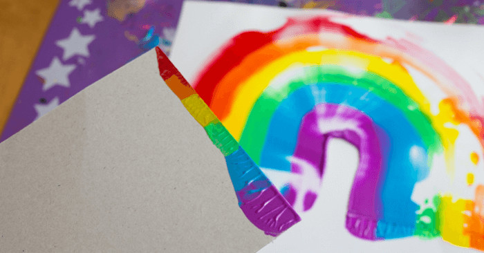 Artwork For Kids  Rainbows and Scraper Art for Kids