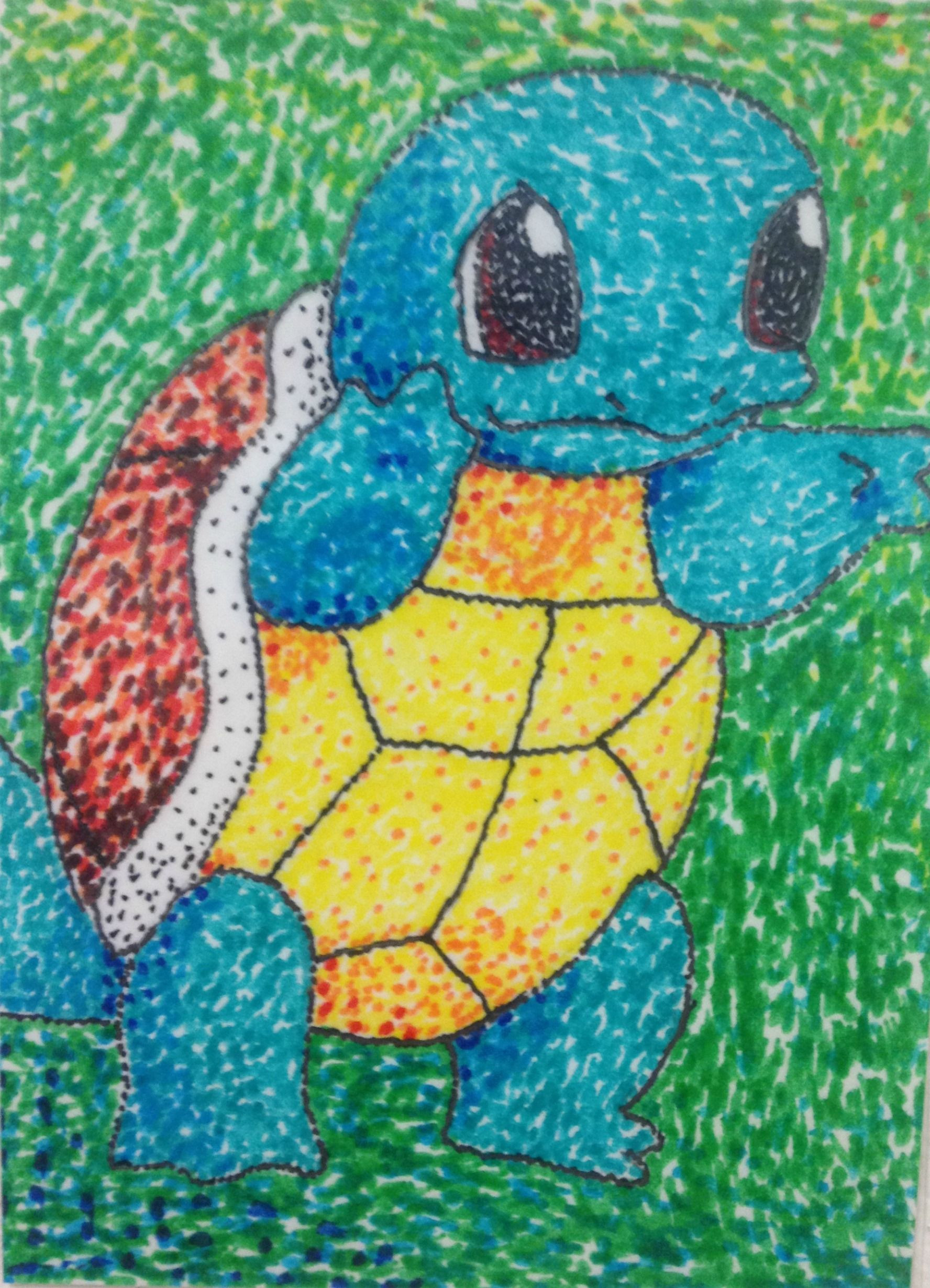 Artwork For Kids  Pointillism project