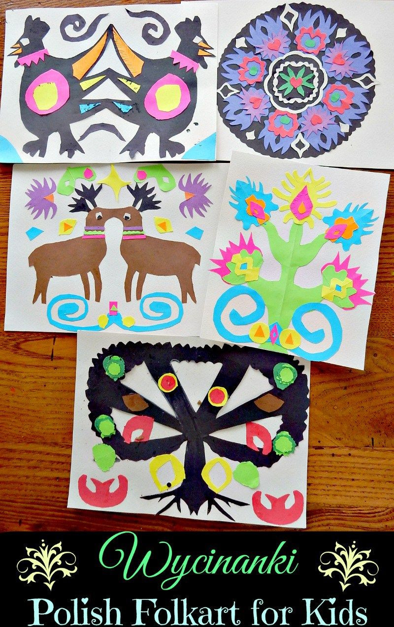 Artwork For Kids  Wycinanki Polish Folkart for Kids CS Poland