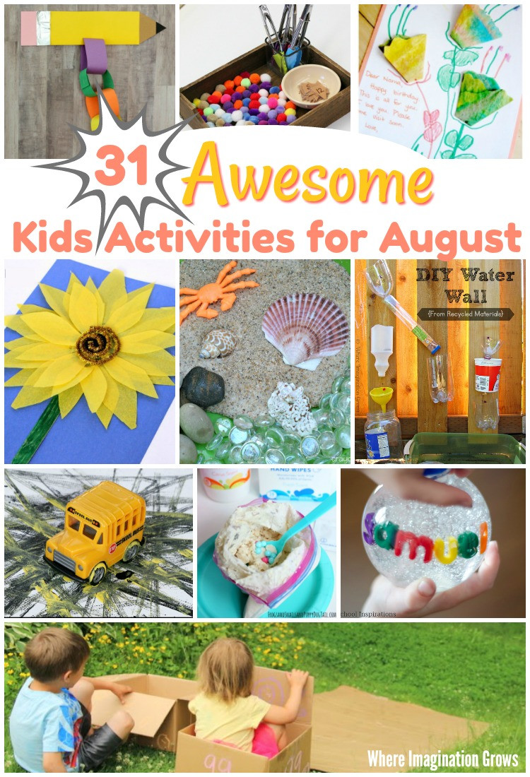 August Crafts For Toddlers  31 Awesome Kids Activities for August Where Imagination