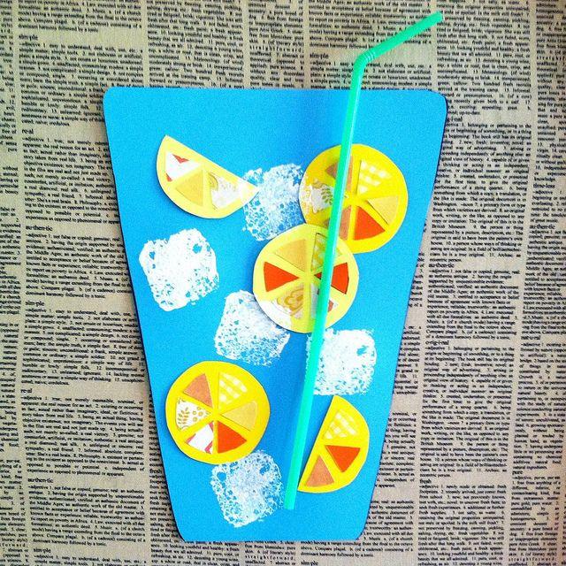 August Crafts For Toddlers  paper glass of lemonade lemonade craft