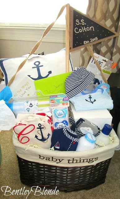 Baby Boy Gift Basket Ideas  Best 25 Baby shower baskets ideas on Pinterest