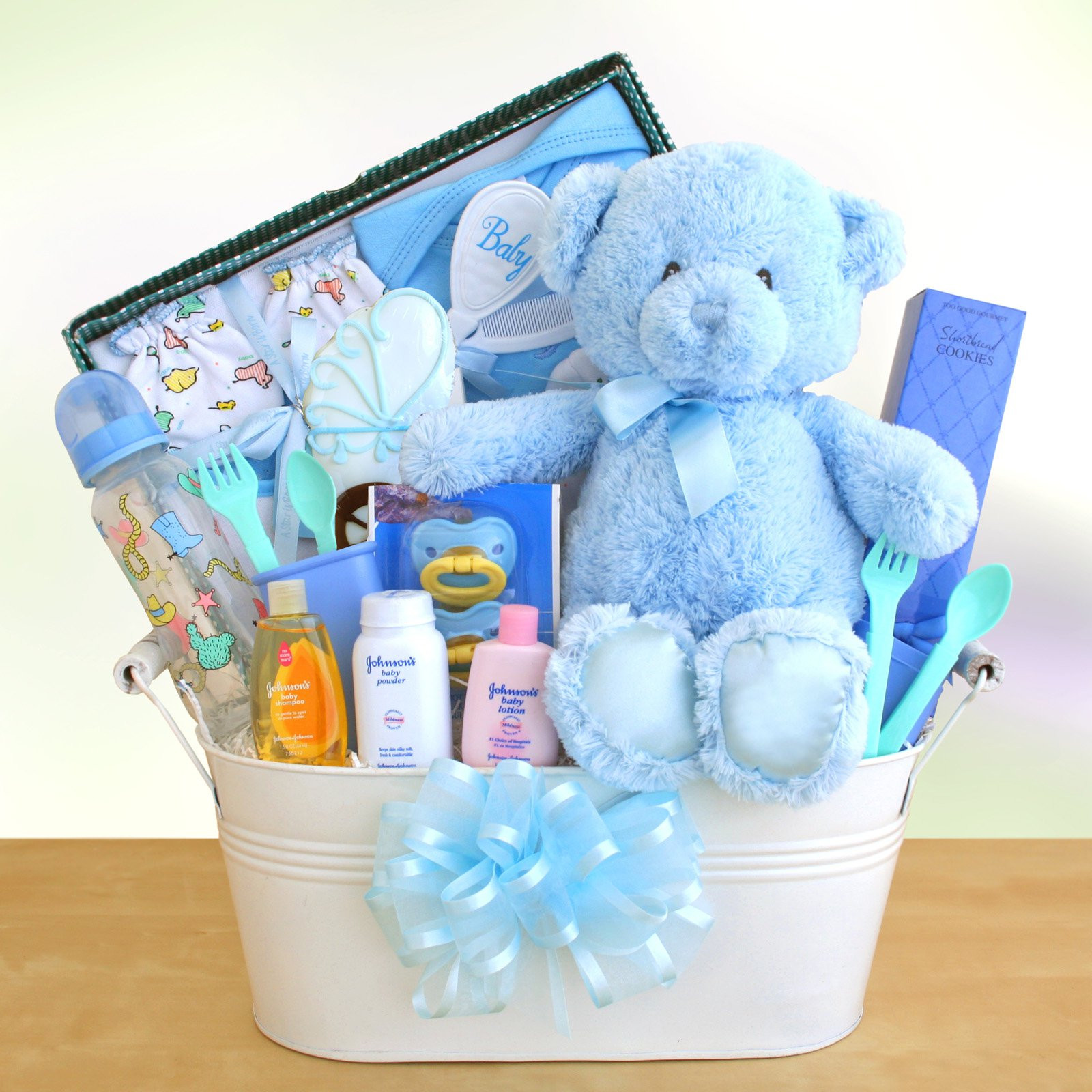 Baby Boy Gift Basket Ideas  New Arrival Baby Boy Gift Basket Gift Baskets by