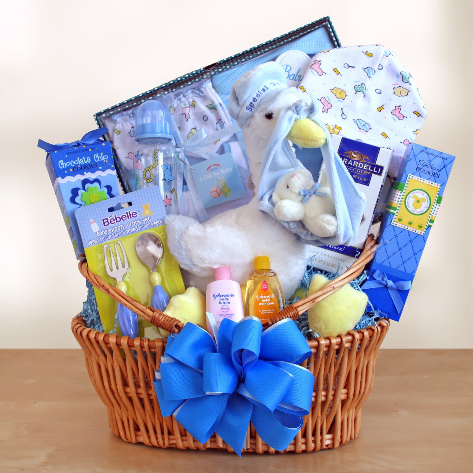 Baby Boy Gift Basket Ideas  Special Stork Delivery Baby Boy Gift Basket Gift Baskets