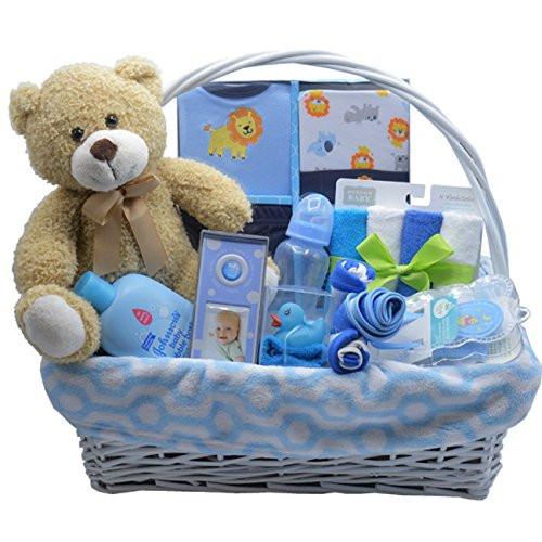 Baby Boy Gift Basket Ideas  Bundle of Joy Deluxe Baby Boy Gift Basket