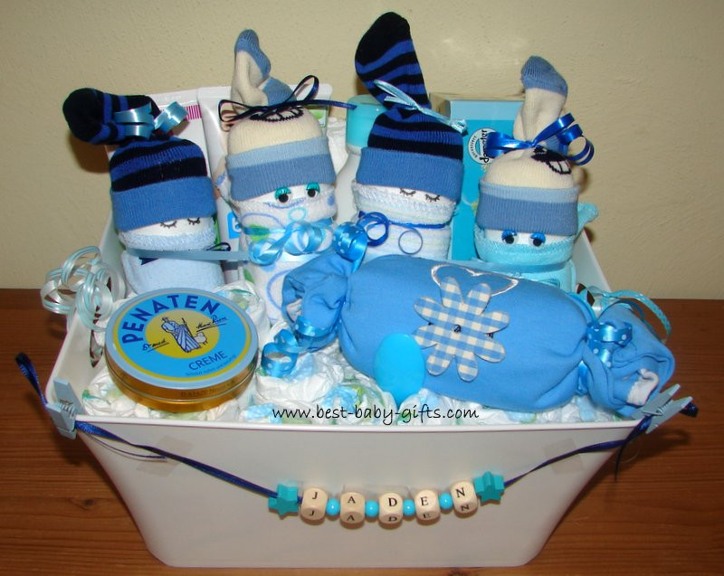 Baby Boy Gift Basket Ideas  Newborn Baby Gift Baskets how to make a unique baby t
