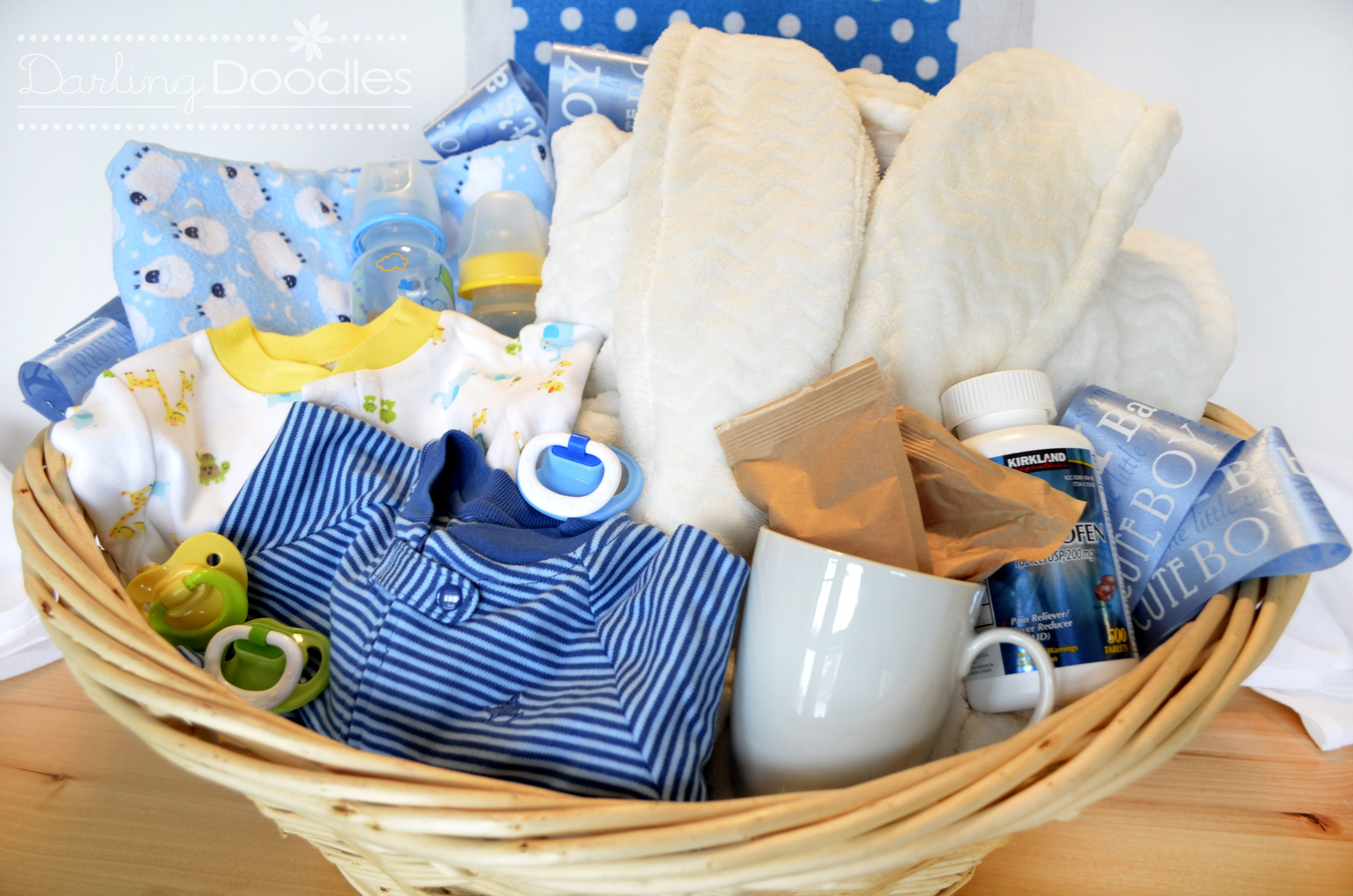 Baby Boy Gift Basket Ideas  Up All Night Survival Kit Darling Doodles