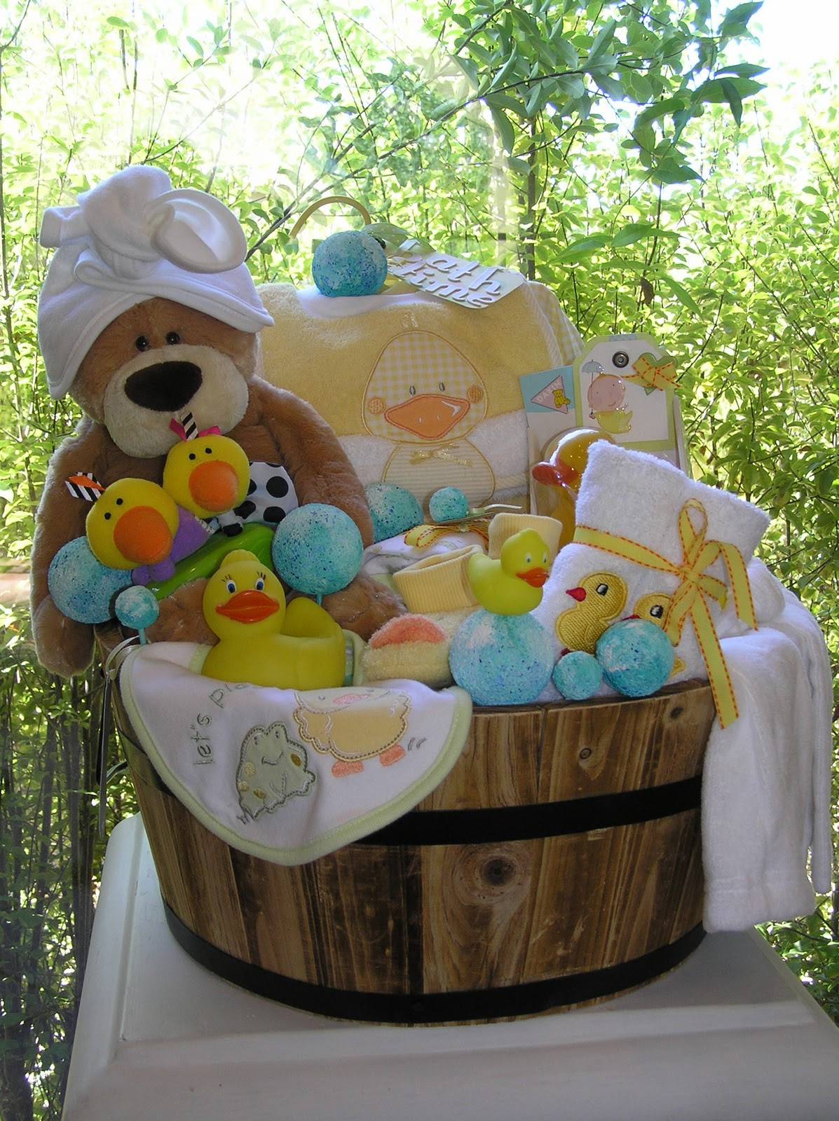 Baby Boy Gift Basket Ideas  White Horse Relics Unique Themed Baby Gift Baskets