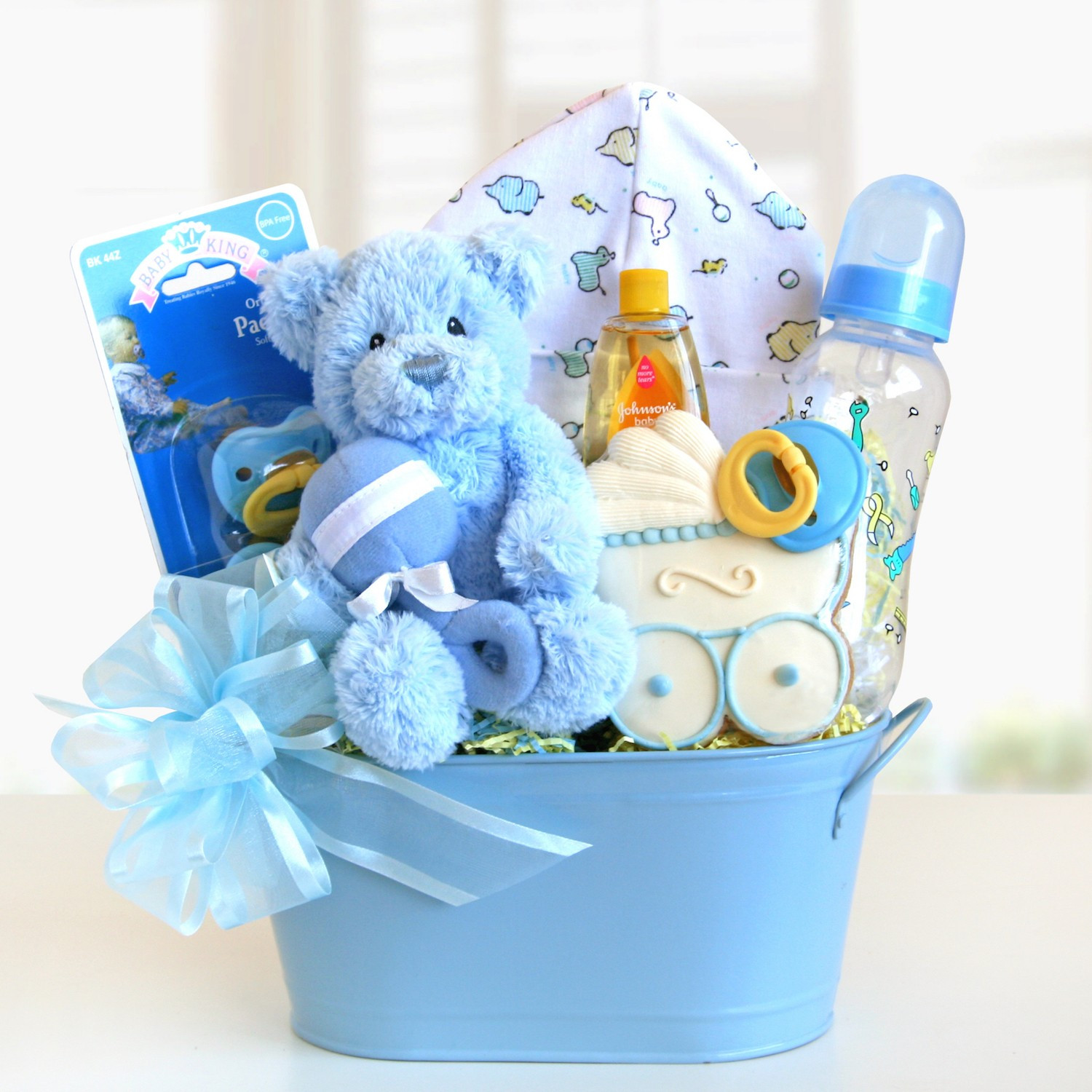 Baby Boy Gift Basket Ideas  Sweet and Cuddly Baby Boy Gift Basket Gift Baskets Plus