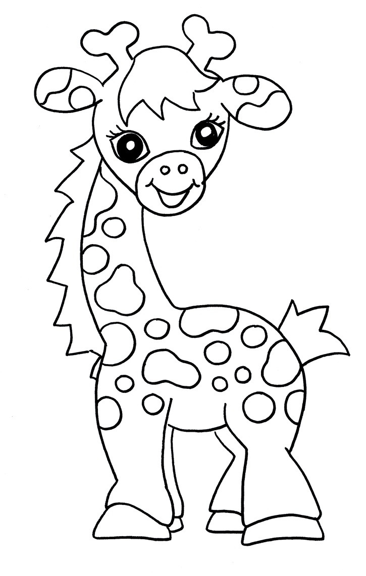 Baby Coloring Pages For Kids  Free Printable Giraffe Coloring Pages For Kids