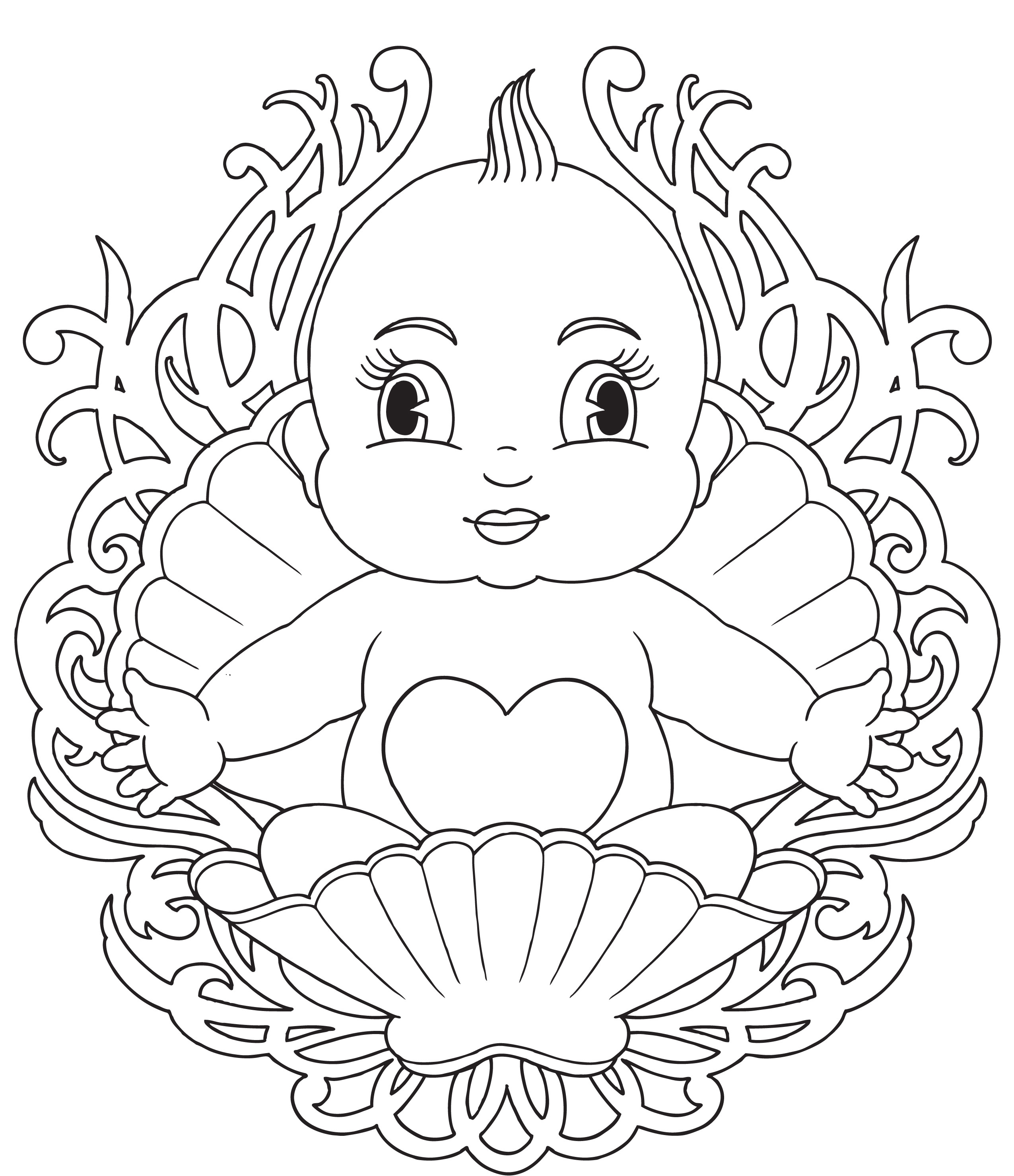 Baby Coloring Pages For Kids  Free Printable Baby Coloring Pages For Kids