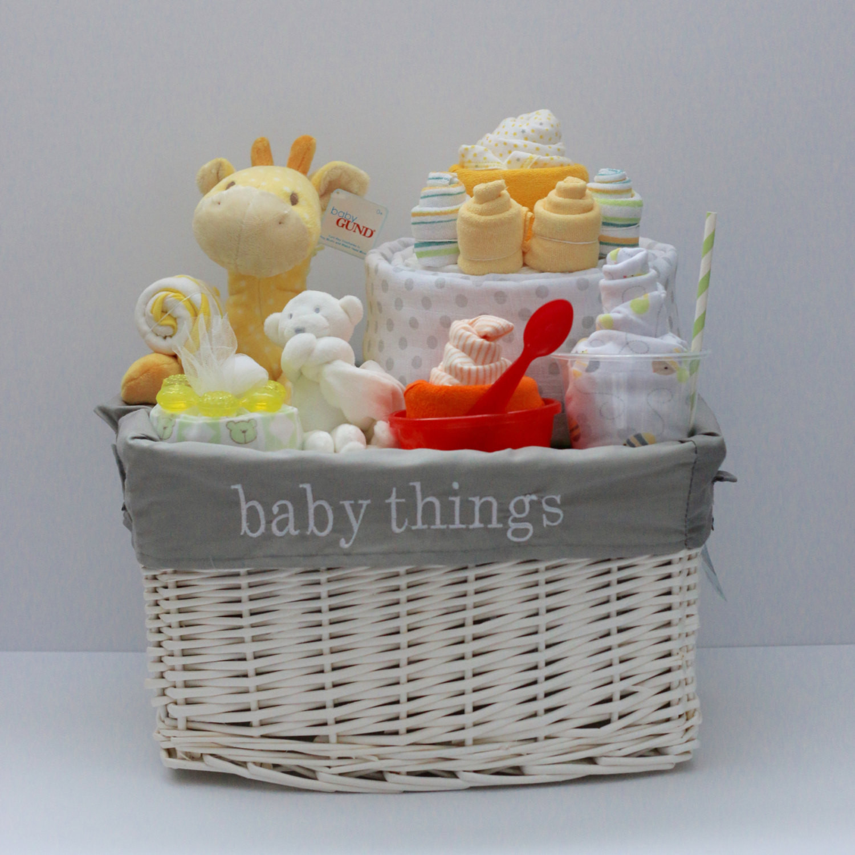 Baby Gift Basket Ideas  Gender Neutral Baby Gift Basket Baby Shower Gift Unique Baby