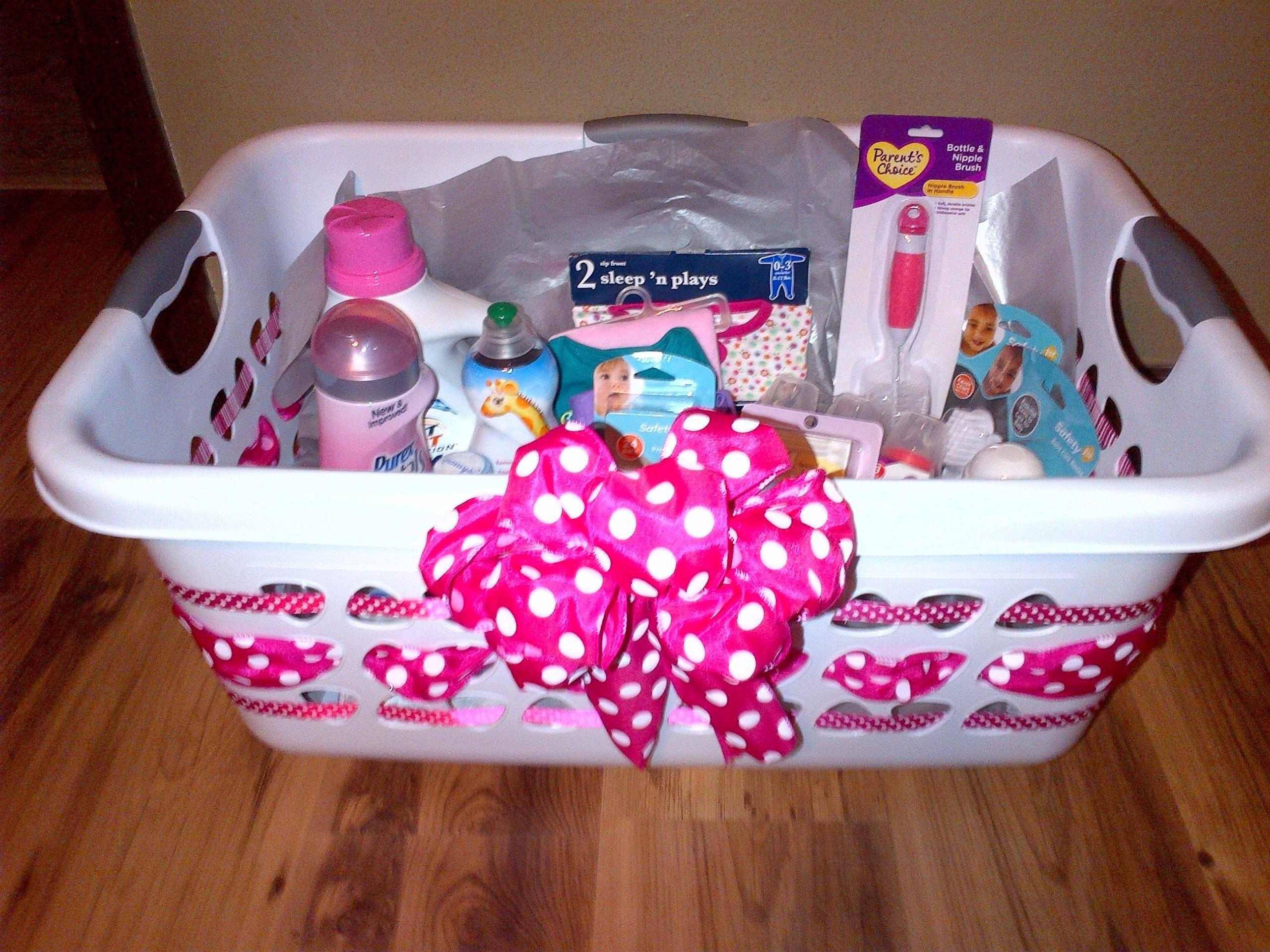 Baby Gift Basket Ideas  Laundry basket baby ts Gift ideas Pinterest