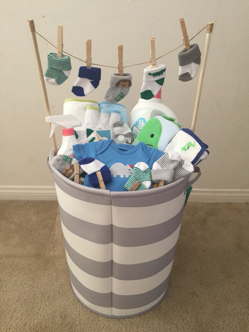 Baby Gift Basket Ideas  Baby Boy baby shower t Idea from my mother in law