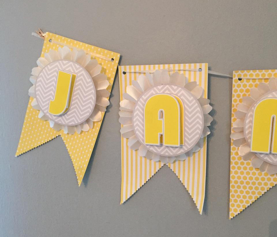 Baby Shower Banners DIY  Make This Pretty DIY Party Banner It s Much Easier Than
