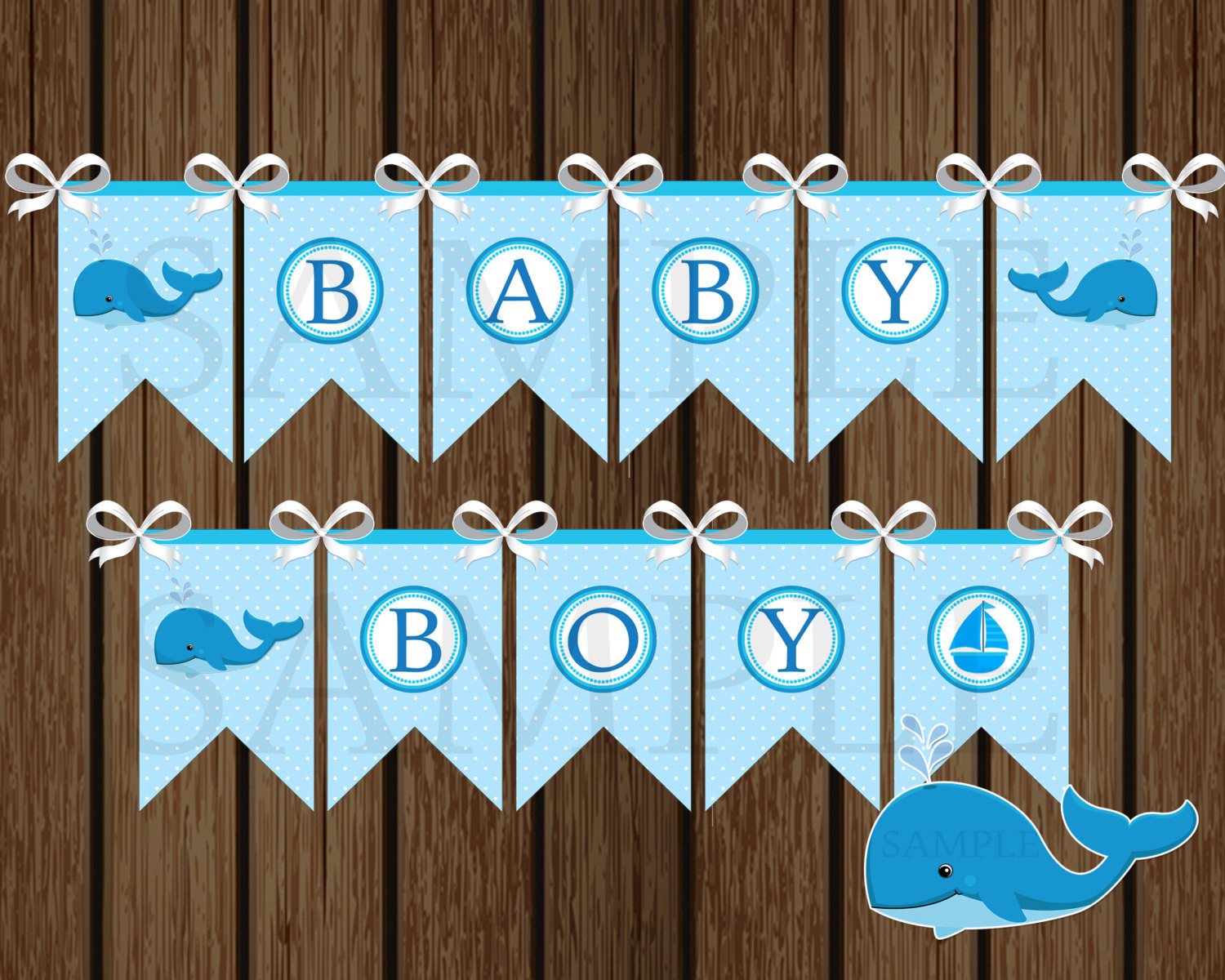 Baby Shower Banners DIY  Baby Boy Whale Banner DIY Whale Baby Shower Banner Shower