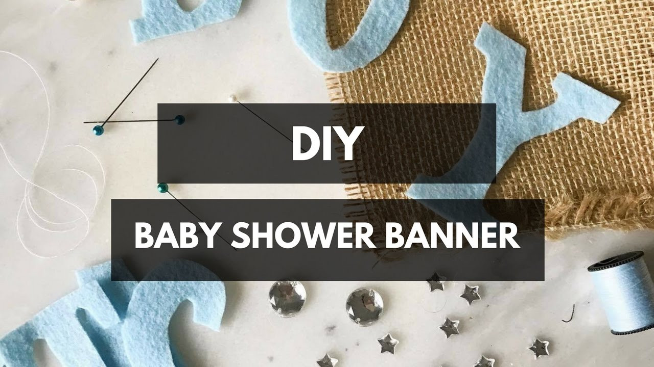 Baby Shower Banners DIY  DIY Baby Shower Banner