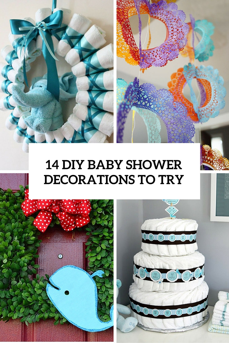 Baby Shower Decoration Ideas DIY  14 Cutest DIY Baby Shower Decorations To Try Shelterness
