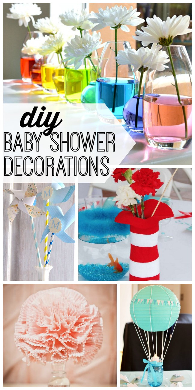 Baby Shower Decoration Ideas DIY  DIY Baby Shower Decorations My Life and Kids