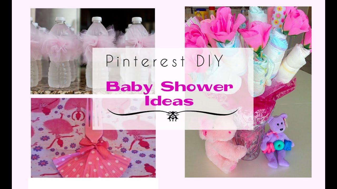 Baby Shower DIY Ideas  Pinterest DIY Baby Shower Ideas for a Girl