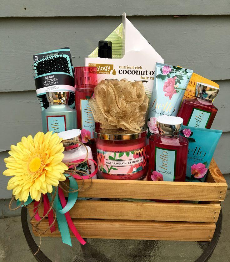 Baby Shower Door Prize Gift Ideas  Bath theme basket Diaper raffle prize