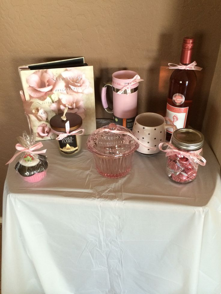 Baby Shower Games Gift Ideas  Baby shower prizes We looked for all pink themed prize