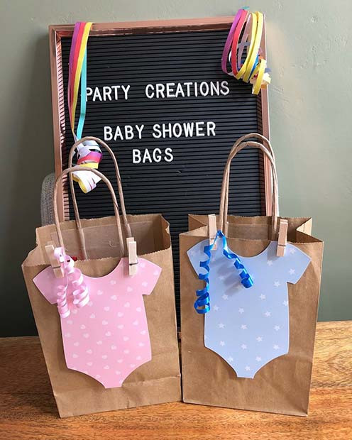 Baby Shower Gift Bags For Guests Ideas  21 Baby Shower Favors That Your Guests Will Love crazyforus