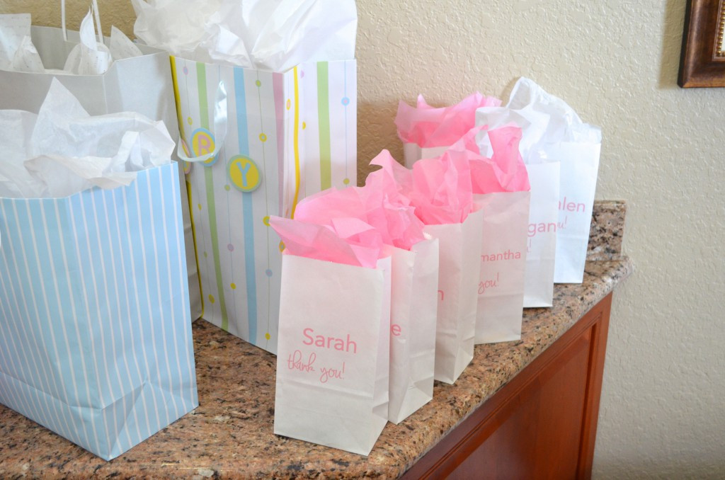Baby Shower Gift Bags For Guests Ideas  Pink Tulle Ribbon Goo Bags