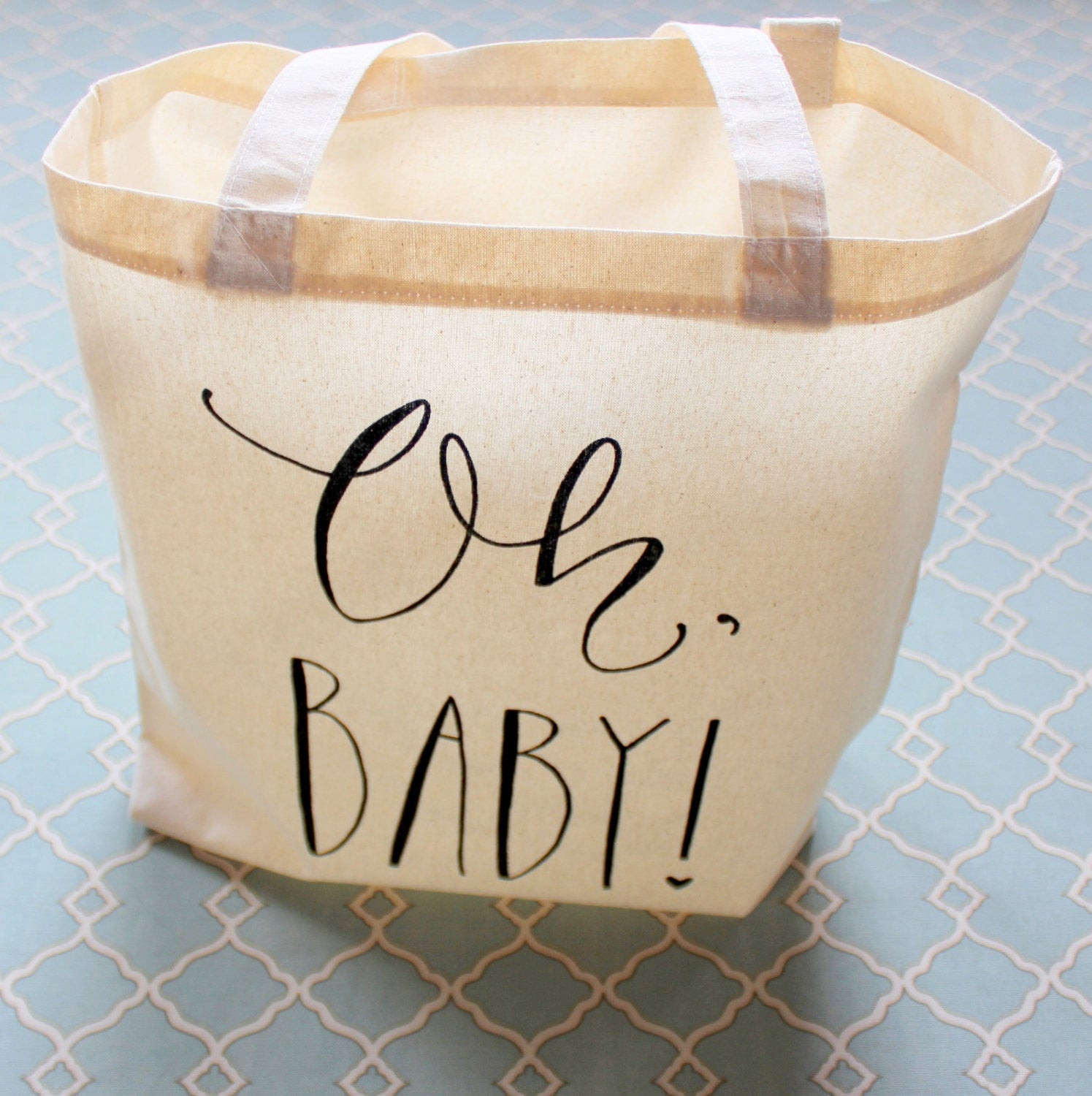 Baby Shower Gift Bags For Guests Ideas  Baby Shower Guest Favor or Baby Shower Gift Bag Handwritten Oh