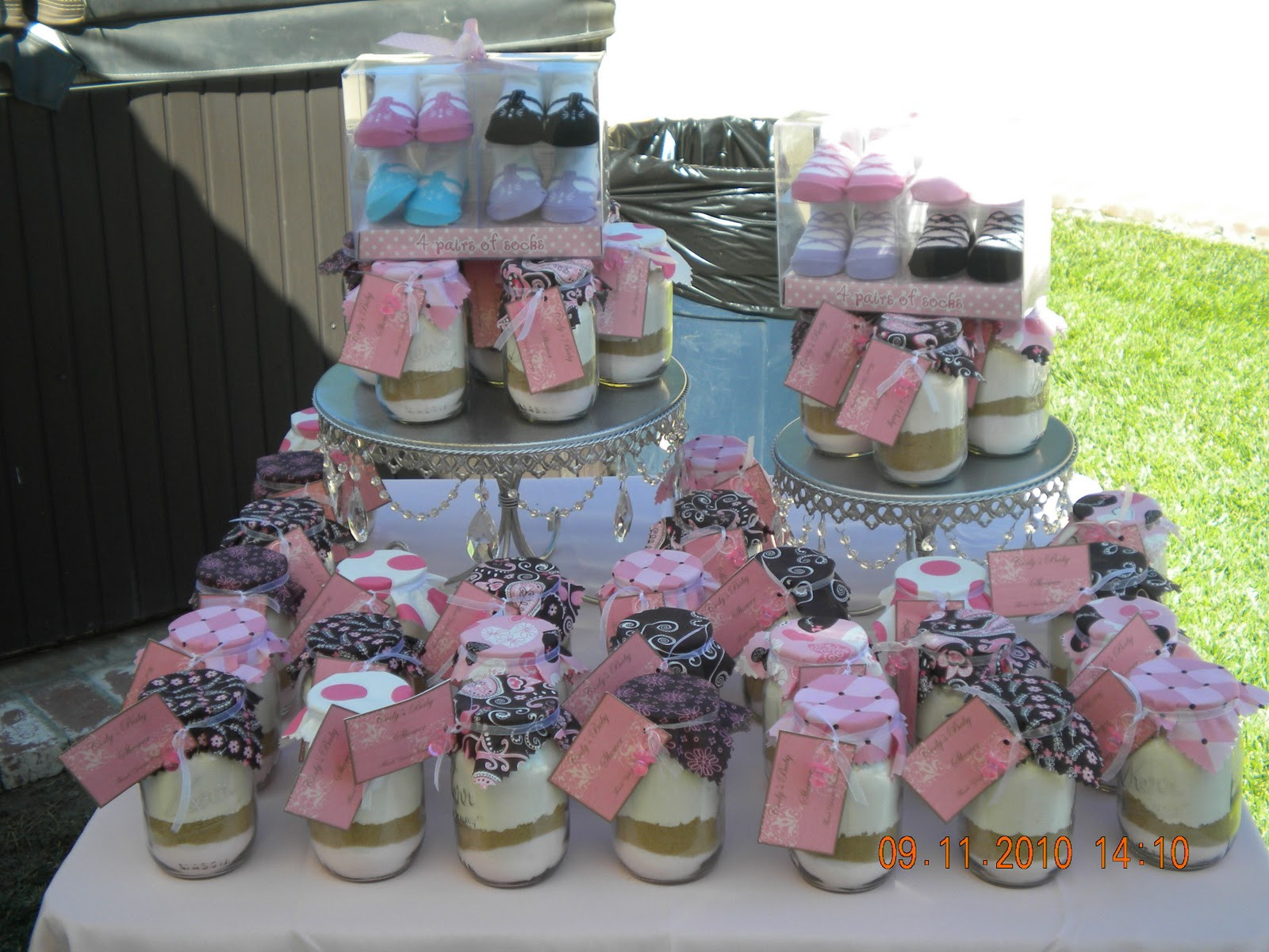 Baby Shower Gift Bags For Guests Ideas  Happily Ever After Designs Pink and Brown Baby Shower