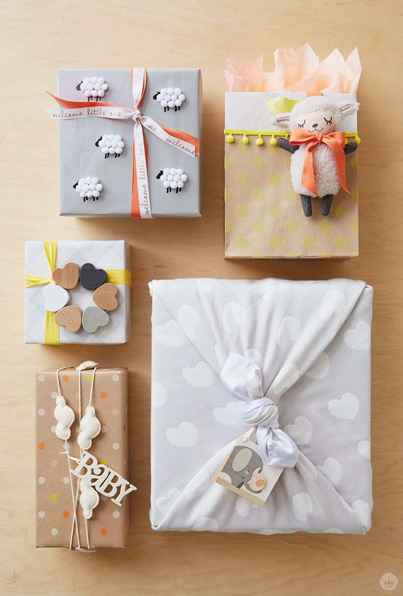 Baby Shower Gift Wrapping Ideas  Baby t wrap ideas Showered with love