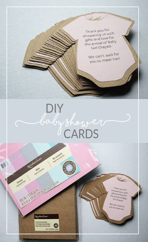 Baby Shower Invitations DIY  DIY Baby Shower Invitations or Thank You Cards