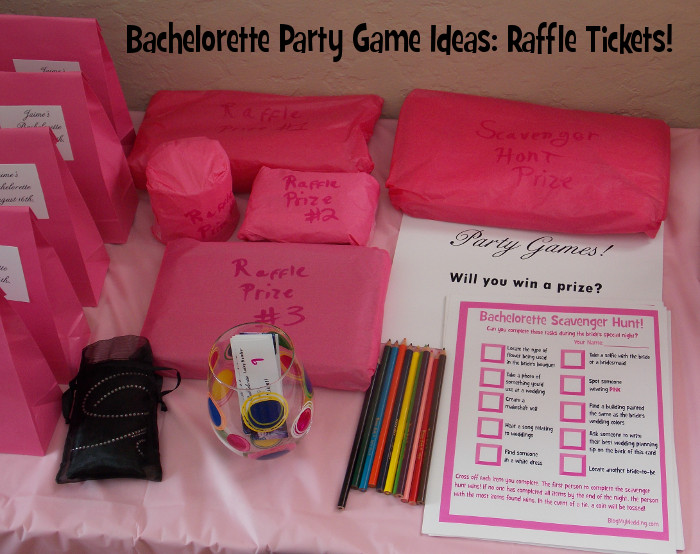 Bachelorette Party Game Ideas  Bachelorette Party Game Ideas Raffle Tickets Blog My