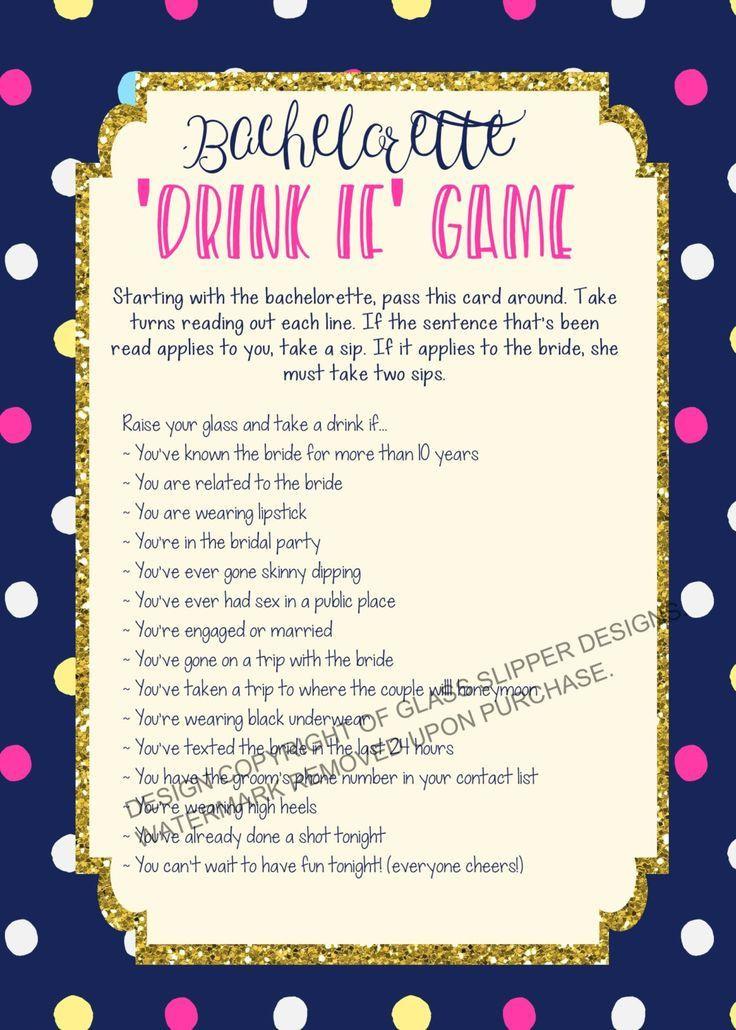 Bachelorette Party Game Ideas  Printable bachelorette game bachelorette drinking game