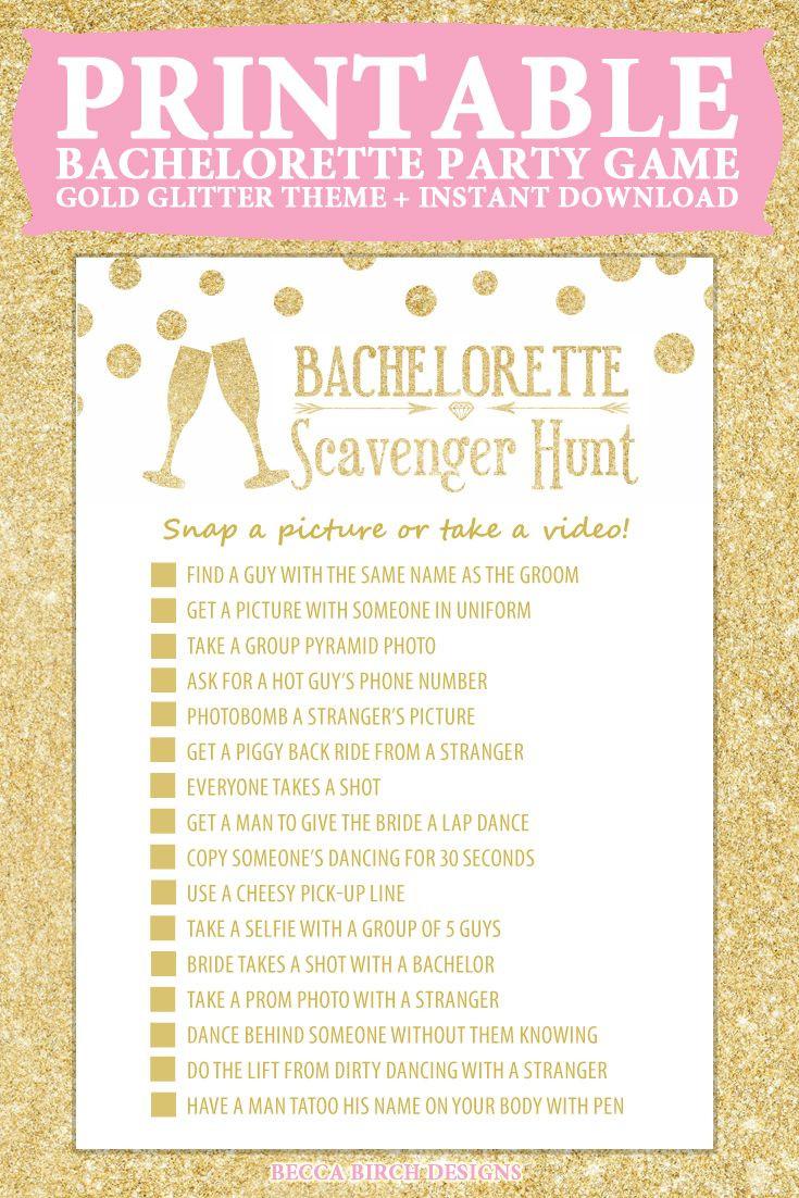 Bachelorette Party Game Ideas  Bachelorette Scavenger Hunt Nashlorette Hen Night