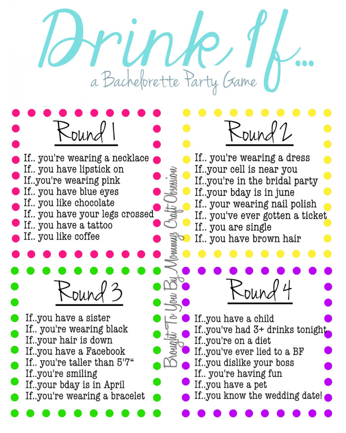 Bachelorette Party Game Ideas  From Wild to Sober 10 Bachelorette Party Games to Have
