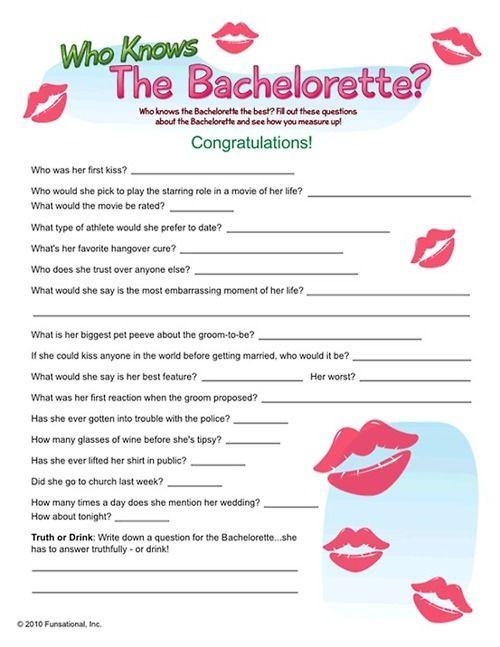 Bachelorette Party Game Ideas  47 best images about Bachelorette Party Games on Pinterest