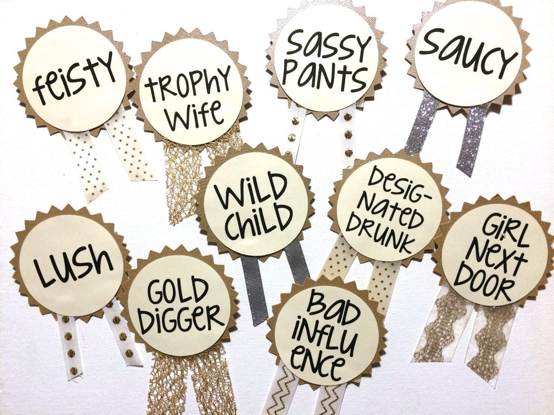 Bachelorette Party Names Ideas  CUSTOM Bachelorette Party Pins Name Tags Bachelorette Sash