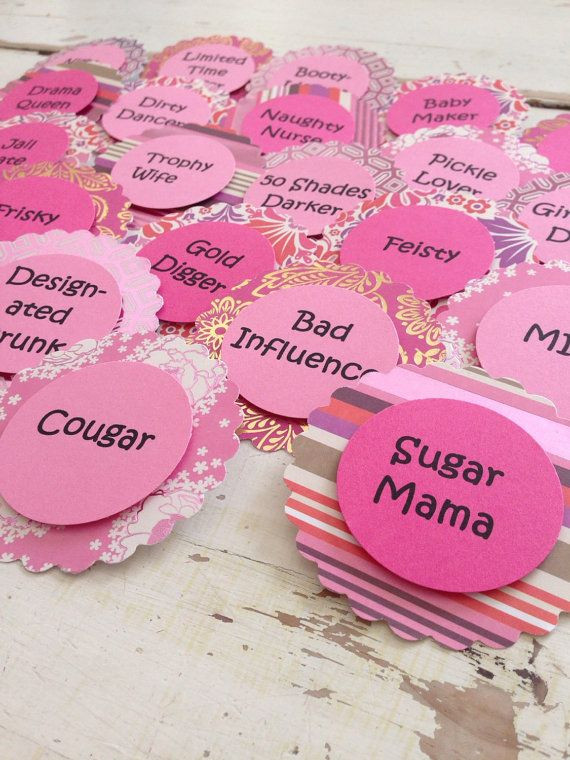 Bachelorette Party Names Ideas  Bachelorette Party Brooch Pins Nick Name Tags by