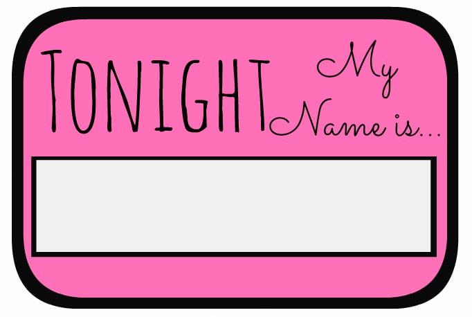 Bachelorette Party Names Ideas  Name Tag Free Bachelorette Party Printables
