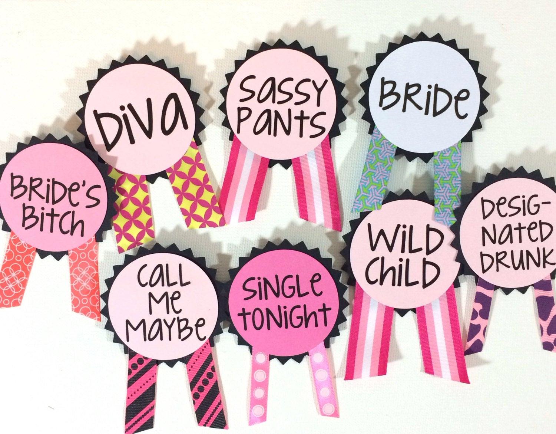 Bachelorette Party Names Ideas  Bachelorette Party Pins Name Tags Bachelorette by