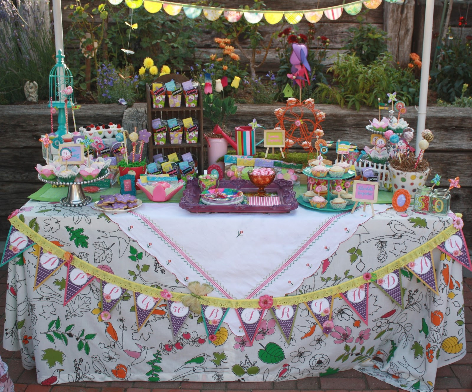 Backyard 50Th Birthday Party Ideas  Miss Party Mom Client Garden Party Jennifer s 50th