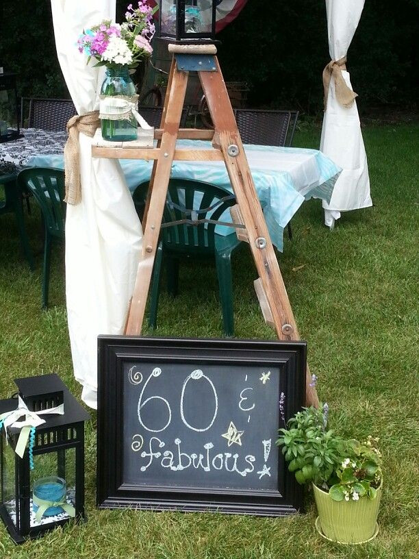 Backyard 60Th Birthday Party Ideas  60th Birthday Decor 40 Pinterest