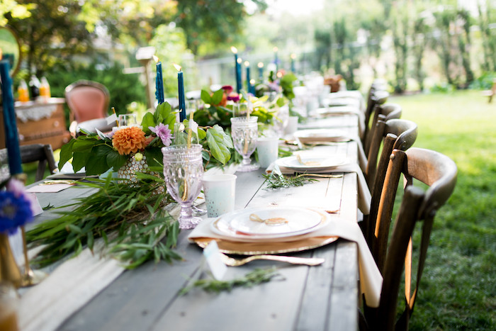 Backyard 60Th Birthday Party Ideas  Kara s Party Ideas Boho Backyard Brunch Birthday Party
