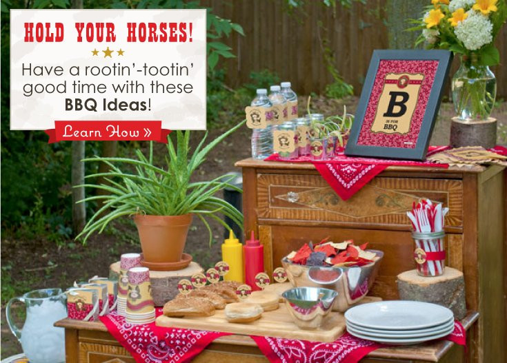 Backyard Bbq Party Decorating Ideas  Summer BBQ Ideas Little Cowboy Party Theme Big Dot