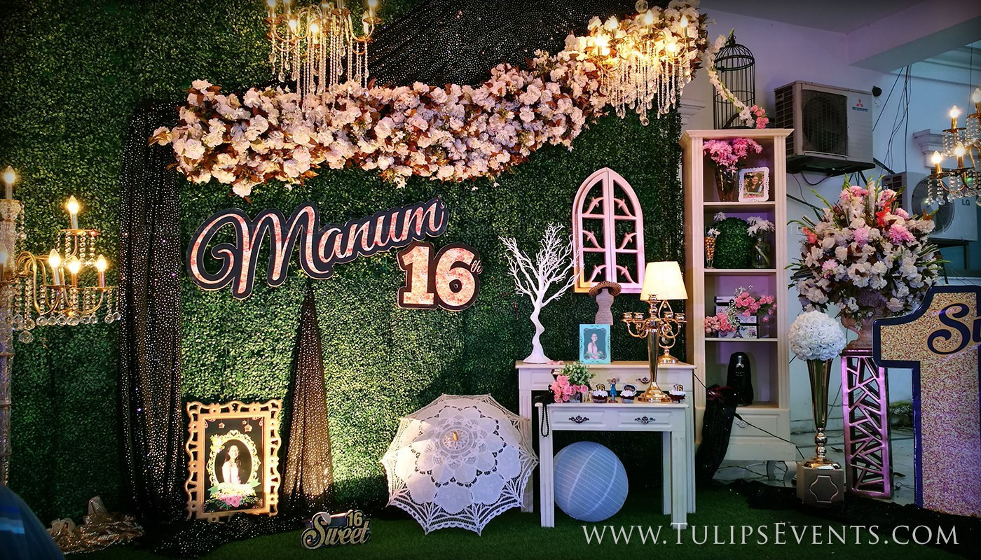 Backyard Birthday Party Ideas Sweet 16  Sweet 16 Outdoor Theme Party Tulips Event Management