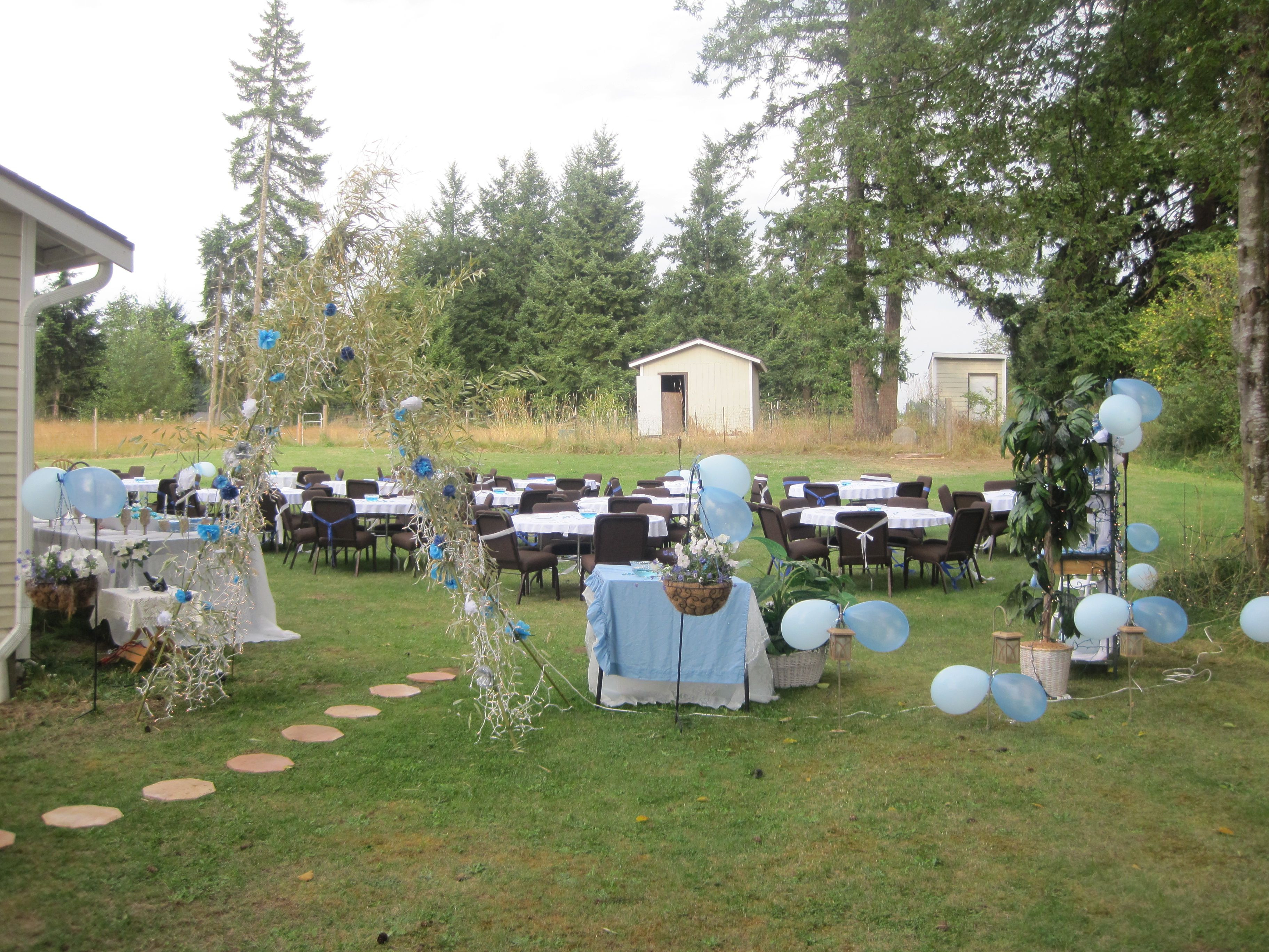 Backyard Birthday Party Ideas Sweet 16  My daughter sweet 16 in our backyard and I did everything