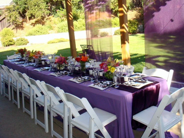 Backyard College Graduation Party Ideas  tablescapes for outdoor graduation party