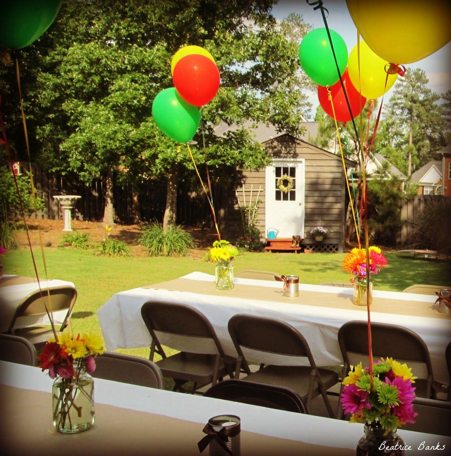 Backyard College Graduation Party Ideas  Backyard Graduation Party Beatrice Banks
