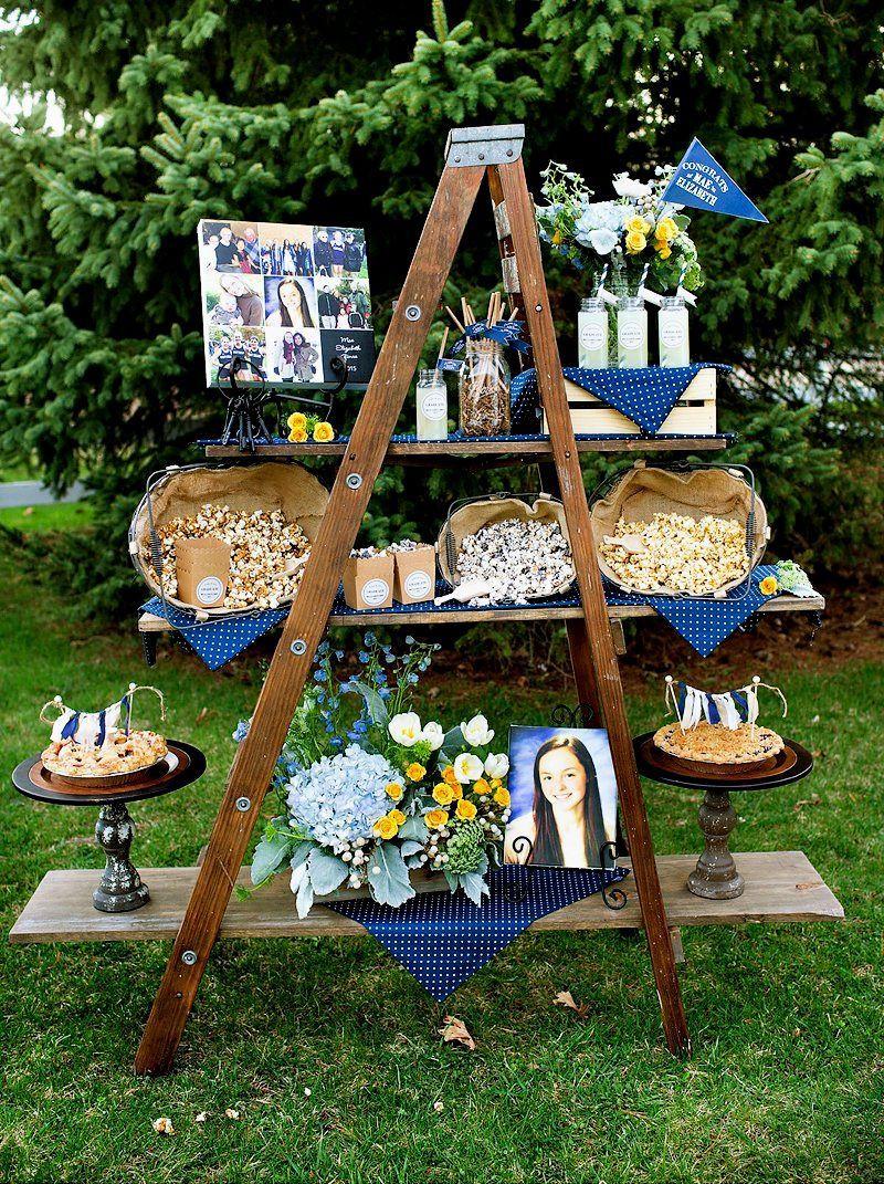 Backyard College Graduation Party Ideas  outdoor graduation party decoration ideas